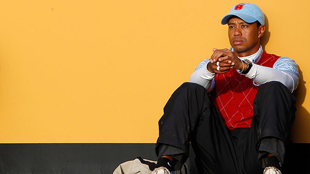 Tiger Woods at the 2010 Ryder Cup. Woods has played in seven of the last eight Ryder Cup competitions.
