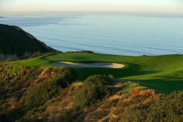 The third hole at Torrey Pines South Golf Course, site of the 2008 U.S. Open.