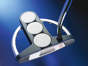 Odyssey White Steel Tri-Ball SRT putter.
