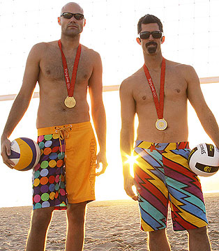 Phil Dalhausser (<i>left</i>) and Todd Rogers