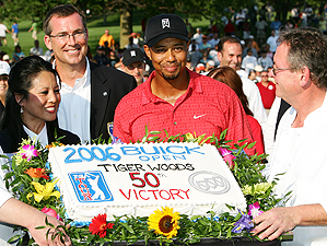 Tiger Woods' win at the Buick Open in 2006 was his 50th on the PGA Tour.