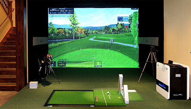 The X Golf simulator.