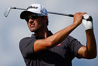 Adam Scott during a practice round for the Hyundai Tournament of Champions in Maui on Wednesday.