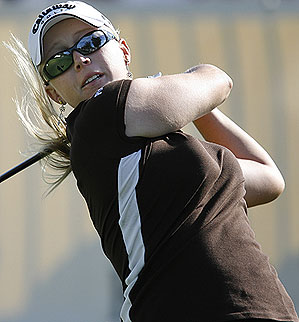 Morgan Pressel played her final 25 holes over Mission Hills without a bogey.