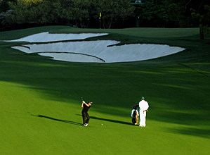 Gary Player during a practice round Monday. He is playing in his 50th Masters this week.