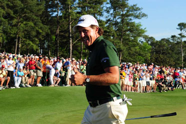 Phil Mickelson on Friday at this year's Masters, which he won for his third green jacket.