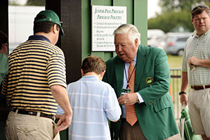 A young patron walked in free to the Masters on Friday.