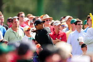 Tiger Woods made four birdies and three bogeys on Friday.