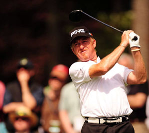 Miguel Angel Jimenez finished tied for eighth.