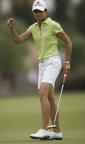 Ochoa became the second-youngest player to qualify for the Hall of Fame, though she still must me a tour member for 10 years — in her case, until 2012 — to be eligible for induction.