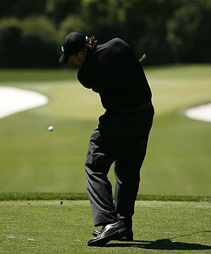 Mickelson finished six strokes off the lead at two under par.