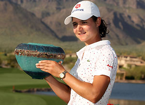 Who will win 10 tournaments first: Tiger Woods or Lorena Ochoa?