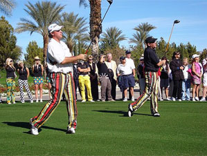 Boo Weekley (left) and John Daly at an SET scramble event in January.