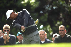 Tiger Woods played in the pro-am Wednesday morning.