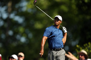 Tiger Woods made two double bogeys, six bogeys and three birdies on Friday.