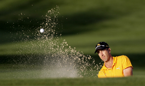 <p>Geoff Ogilvy was tied for the lead when play was suspended.</p>