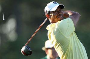 Tiger Woods tees off with Matt Kuchar and K.J. Choi at 1:42 p.m. on Thursday.