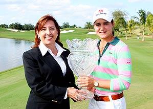 Carolyn Bivens and Lorena Ochoa