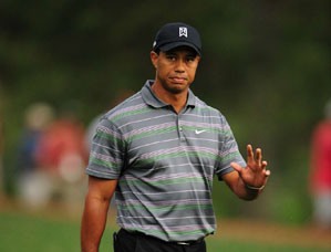 Tiger Woods was well received by the patrons on Thursday.