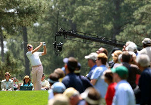 Ian Poulter fired a shot in the first Par-3 Tournament on television.