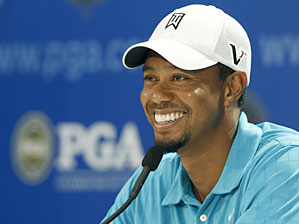 Tiger Woods said he was surprised his former caddie took shots at him on national TV.