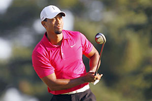 Tiger Woods got off to a hot start, but his round fell apart after a double bogey on 15.