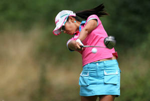 Ai Miyazato made seven birdies and two bogeys on Saturday.