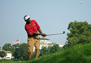 Vijay Singh carded four bogeys on the back nine to miss the cut.
