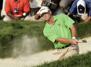 Steve Stricker made three birdies on the back nine to shoot a 65.