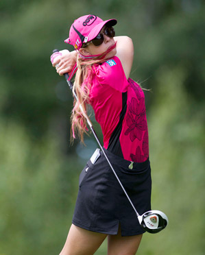 Paula Creamer got to eight under par on Friday, three shots from the lead.