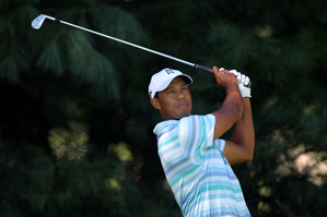 Tiger Woods made four bogeys and two birdies on Friday.