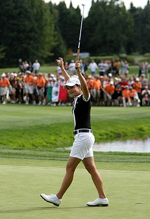 Ochoa won with a five stroke lead Sunday at the Safeway.