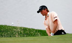 Webb Simpson made five birdies and two bogeys on Friday.