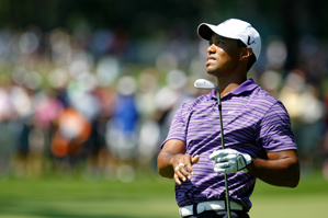 Tiger Woods opened with a triple bogey, but he finished with two birdies.
