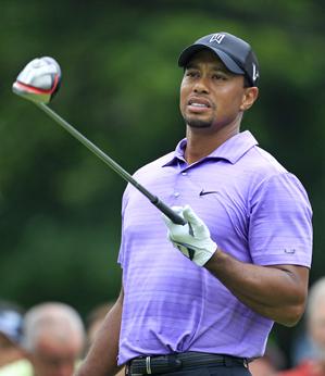 Tiger Woods hit only three fairways on Friday.