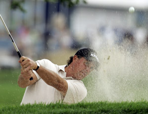 Phil Mickelson made a birdie, a bogey and three pars before play was suspended.