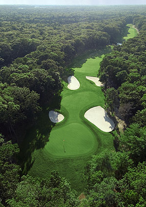 The ninth hole at Seaview Marriott's Pines Course.