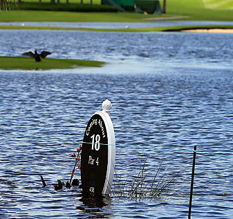 The inaugural Bahamas LPGA Classic was plagued by rain.