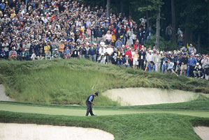 When Woods birdied 17, it was as if Frank Sinatra had walked into your local bar and started singing Summer Wind.