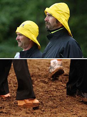 Some fans sacrificed fashion for function. Others could have used a good, sturdy pair of Wellington boots.