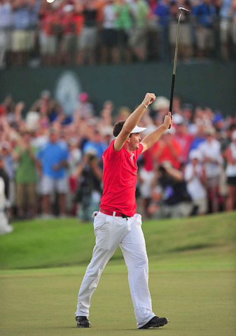 Keegan Bradley was the first player to win a major using a belly putter at the 2011 PGA.