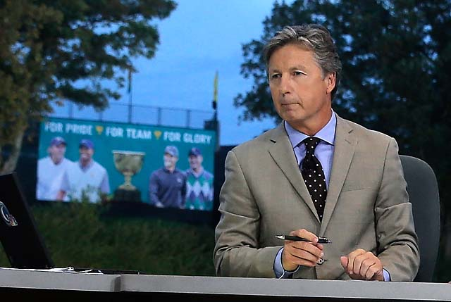 Brandel Chamblee at the 2013 Presidents Cup in Dublin, Ohio.