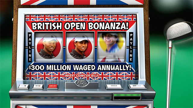 The British Open generates about half of the $600 mil. the U.K. bets on golf each year.