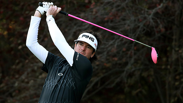 Bubba Watson made four birdies and one bogey on Friday.
