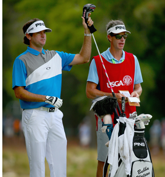 Bubba Watson left his driver in the bag several times during the opening round at Pinehurst No. 2.
