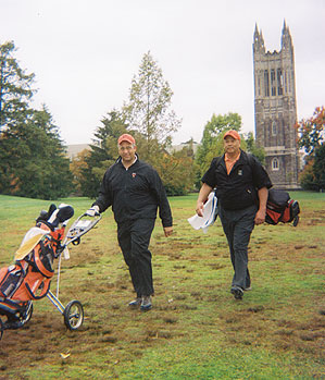 Burton Smith, left, and Rick Hyde returned to Princeton in the fall of 2009 for the first time since their college days.