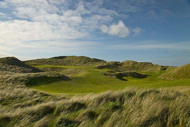 The first hole at Carne Golf Links' new Kilmore 9.