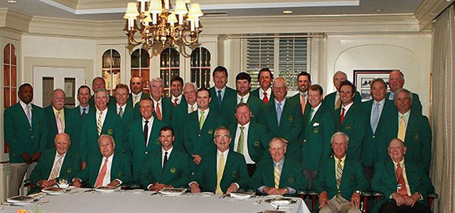 Ben Crenshaw posted this picture from the 2014 Masters Champions Dinner on Tuesday night on his Facebook page.