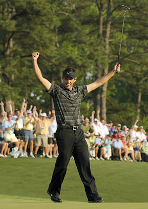 Charl Schwartzel's victory at the 2011 Masters drew some of the best TV ratings in years.