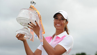"""Cheyenne Woods said she's determined to be known as something more than """"just Tiger Woods' niece."""""""
